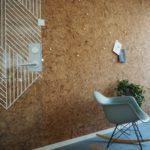 kork vegg på kontor