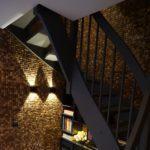Kokosnøtt fliser gir en fin taktil effekt som forsterkes ved bruk av lys