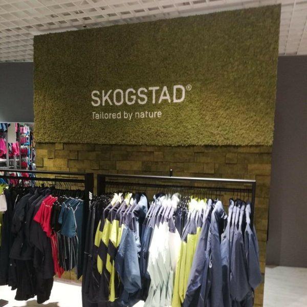 Mosevegg hos klesbutikken Skogstad i Oslo