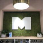 Trendy grønn mose vegg hos Mani