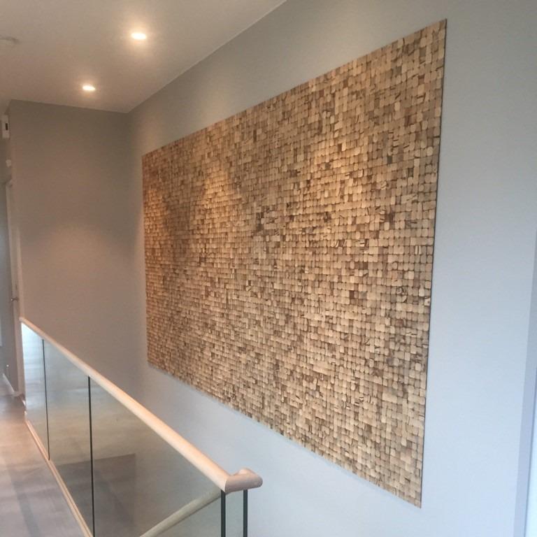 Mosaikk fliser av kokosnøtt i trapp