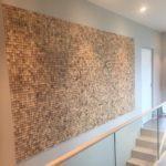 Mosaikk fliser av kokosnøtt som bilde i trapp