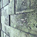 Korkvegg i modellen Bricks 3D i grønn farge