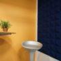 Blå kork vegg på stillerom