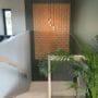 Dekorative kork fliser i trappeoppgang som forbedrer akustikken i funkishus