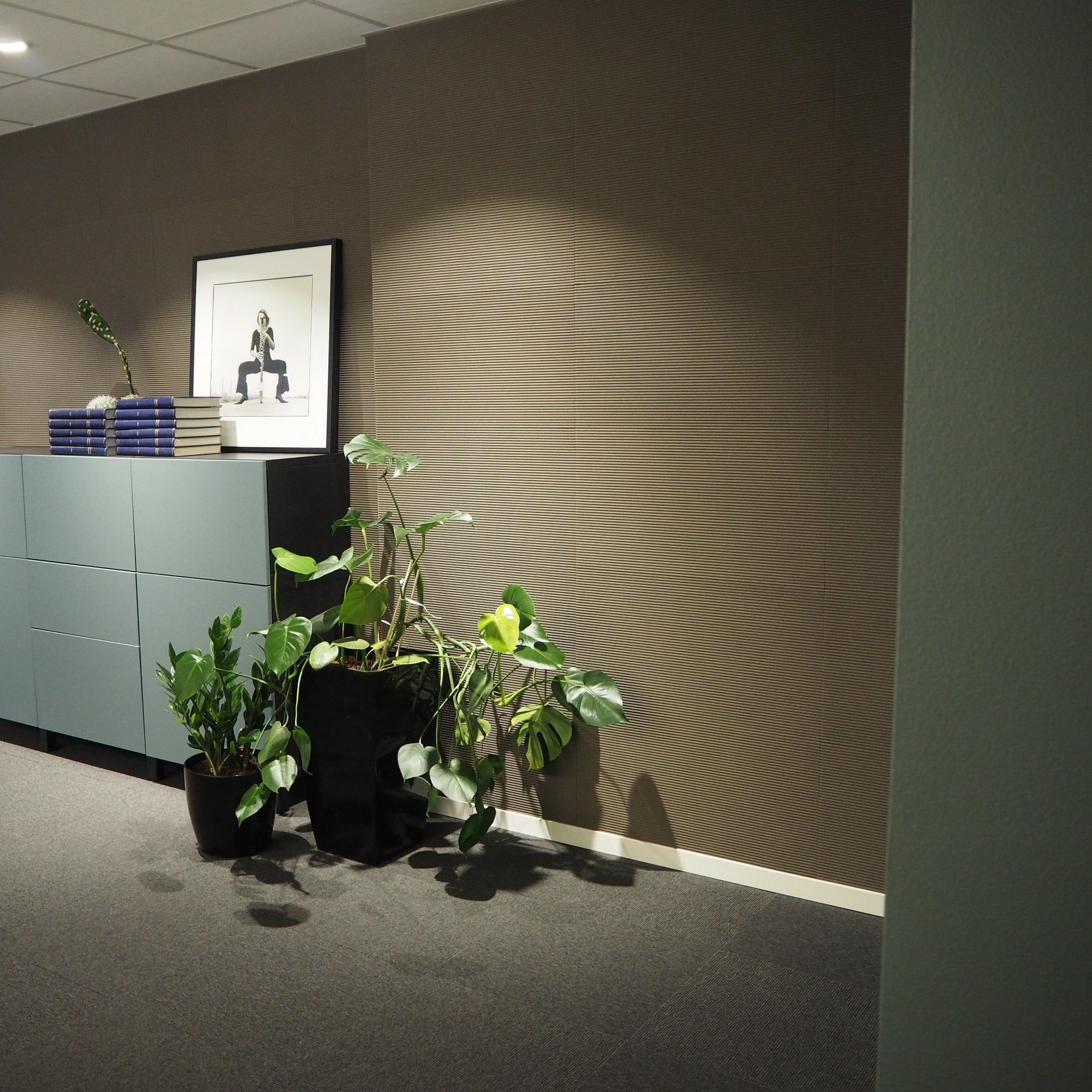 kork vegg fra WALL-IT på kontor