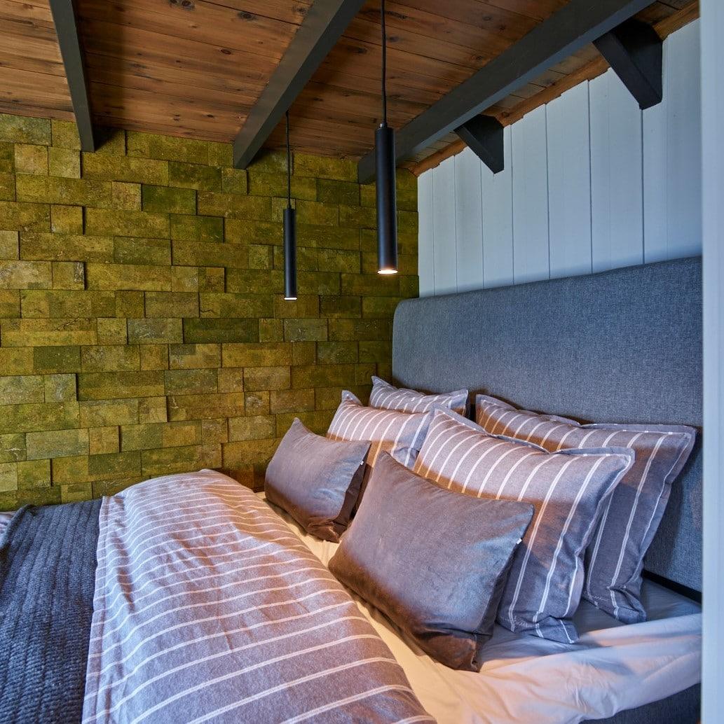 Grønn kork vegg fra eventyrlig oppussing