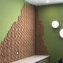 Kork fliser i lekkert 3D mønster