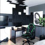 Kork vegg på gaming rom