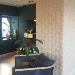 Korkvegg i nydelig 3d tekstur i stue