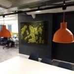 Design mose vegg hos Aztek i Oslo