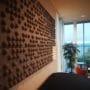 Lekre lyddempende panel på veggen hos Blindeforbundet