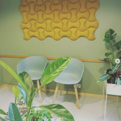 kork vegg i modellen senses på venterom