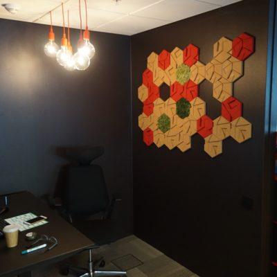 3d kork fliser på kontor