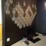 Kork vegg på kontor hos Storebrand i Oslo