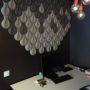 3D kork fliser som veggdekor på kontor hos Storebrand