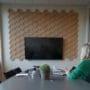 Dekorative 3D fliser i kork i fargen natur
