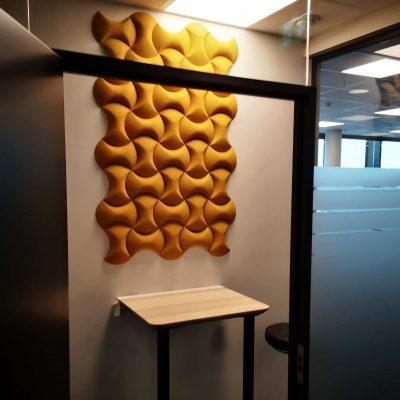 Trendy 3D kork fliser på møterom hos Sopra Steria