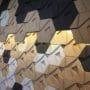 Lekre kork fliser i ulike farger i 3D mønster kombinert med lys