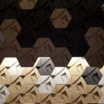 3D kork vegg