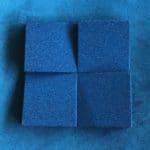 Detaljbilde av kork flisene chock i fargen blå