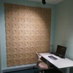 Stilige kork fliser på kontor hos Senab Eikeland i Trondheim