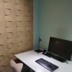 Kork fliser i 3d design på kontor