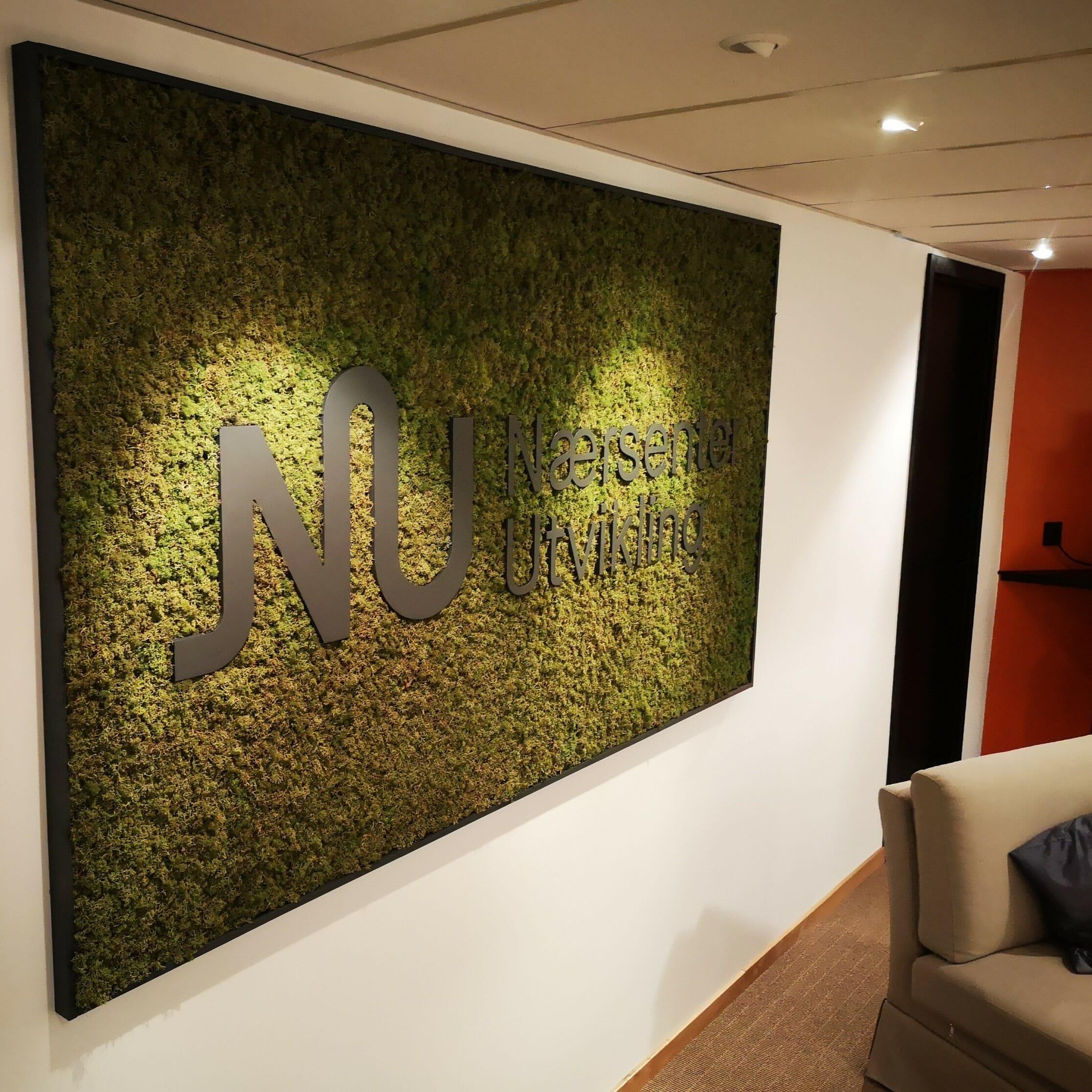 Billige kunstig syntetiske plast grønn mose veggen For dekorasjon