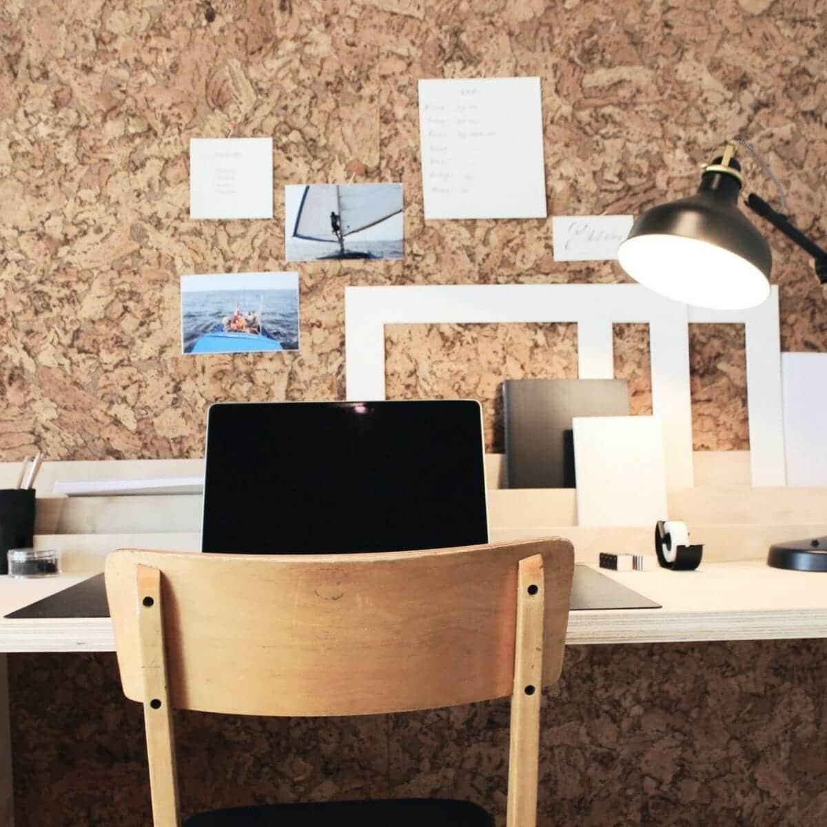 Kork vegg fra WALL-IT passer ypperlig som Moodboard