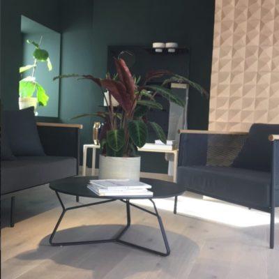 Kork vegg i showroom i Kristiansand