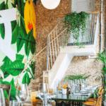 Veggfliser i kokosnøtt på restaurant i Oslo