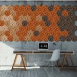 Korkvegg i modellen Hexagon fra WALL-IT