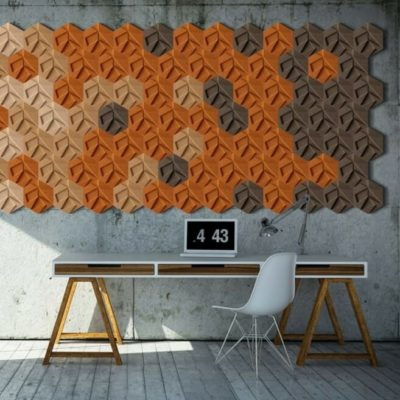 3D korkvegg fra WALL-IT i modellen Hexagon