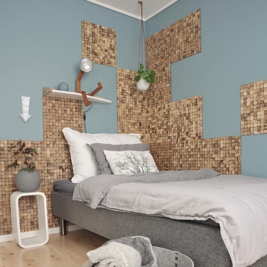 Kokosnøtt som veggdekor hos medandreord