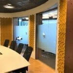 3D Kork vegg på kontoret hos Anticimex i Oslo