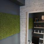 Mose vegg liver opp veggen til frisør i Oslo