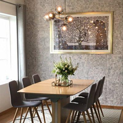 Lekre mosaikk fliser i spisestue