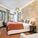Fond vegg i kokosnøtt på Dyreparken hotell