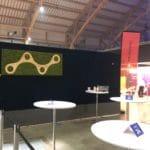 Logo vegg på konferansen the future of technology and sustainability