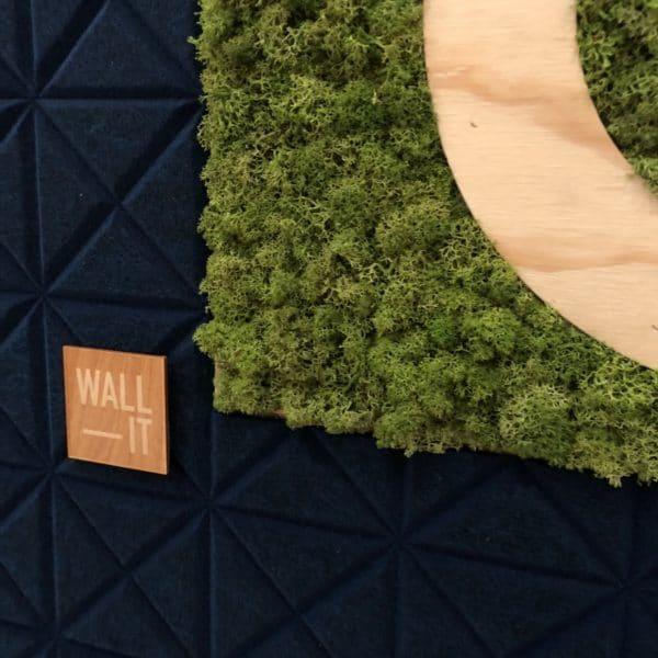 Detaljbilde av logo vegg til Oslo Business Forum på konferansen the future of technology and sustainability