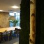 Kokosnøtt fliser på kontoret til Veidekke