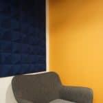 Kork fliser i nydelig blåfarge og 3D design hos Aztek