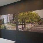 Lydabsorbenter på kontor i flott fotoprint