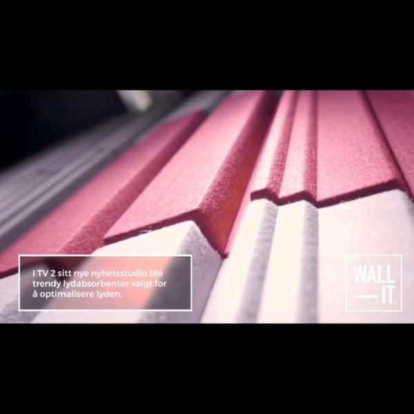 Trendy 3D akustikk panel hos TV2 nyhetsstudio