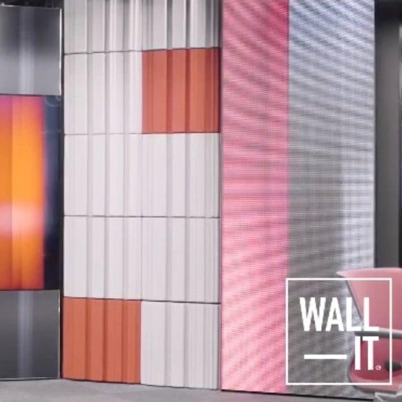 Akustikk plater hos TV2 nyhetsstudio