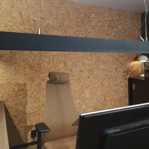 Nydelig kork vegg på kontor i Ålesund