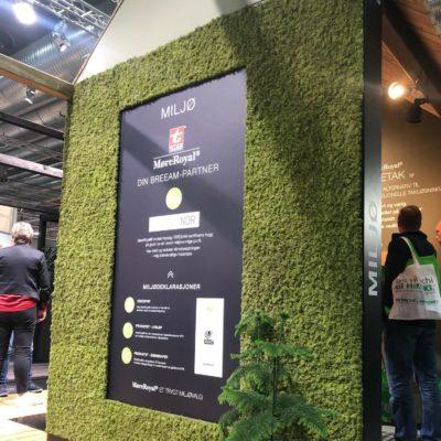 Moss of norway på standen til Talgø på Bygg Reis Deg 2019