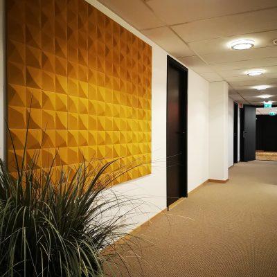 Lekre 3D kork fliser på kontoret til Nærsenter Utvikling i Bærum
