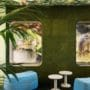 lekker grønn kork vegg i mingleområde på kontor