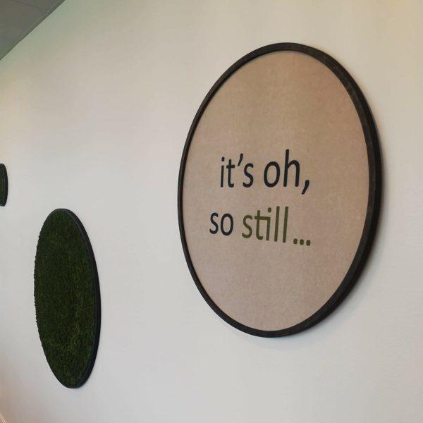 mose sirkler og lyddempende sirkler på kontoret hos Sopra Steria